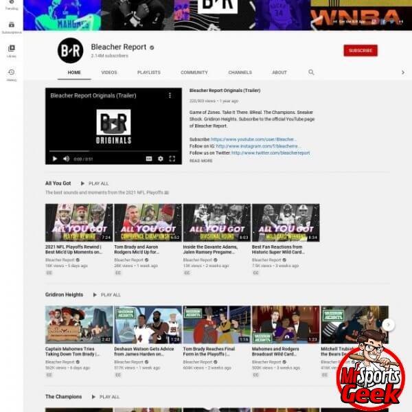 Youtube: Bleacher Report
