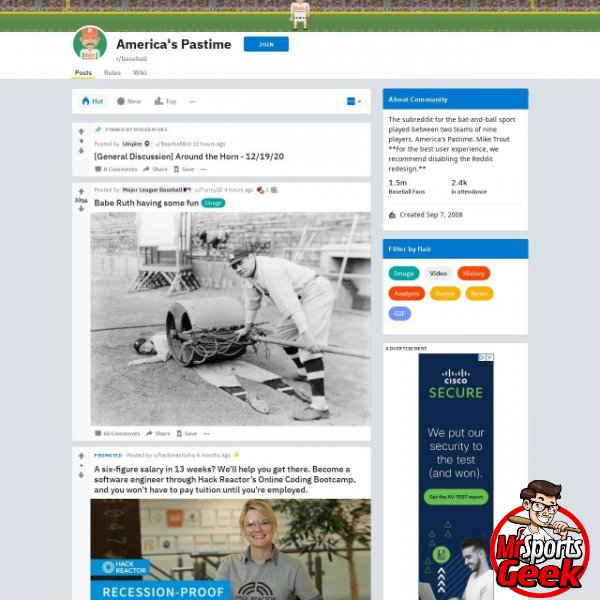 Reddit Baseball