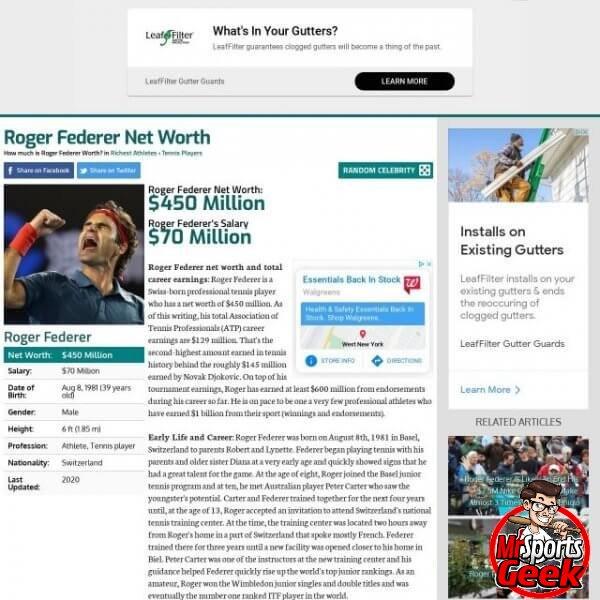 Roger Federer (Tennis)