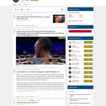 Reddit Boxing