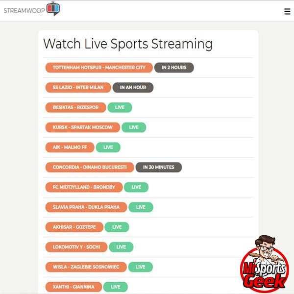 StreamWoop - Best Sports Stream Sites - MrSportsGeek