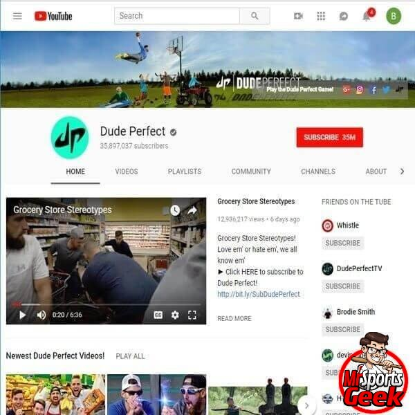 Youtube: Dude Perfect