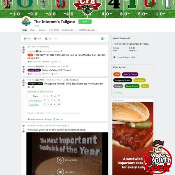 Reddit College Football