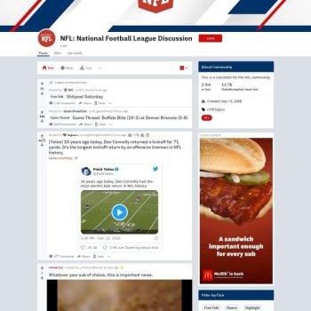 Reddit NFL